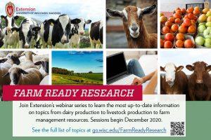 Postcard for Farm Ready Research Webinar Series