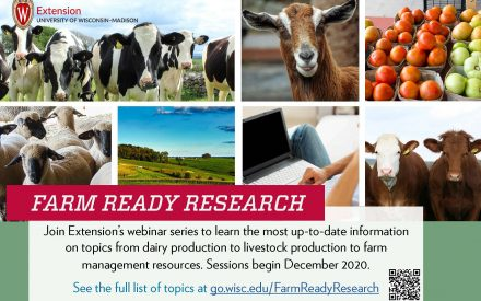 Postcard for Farm Ready Research Webinar Series